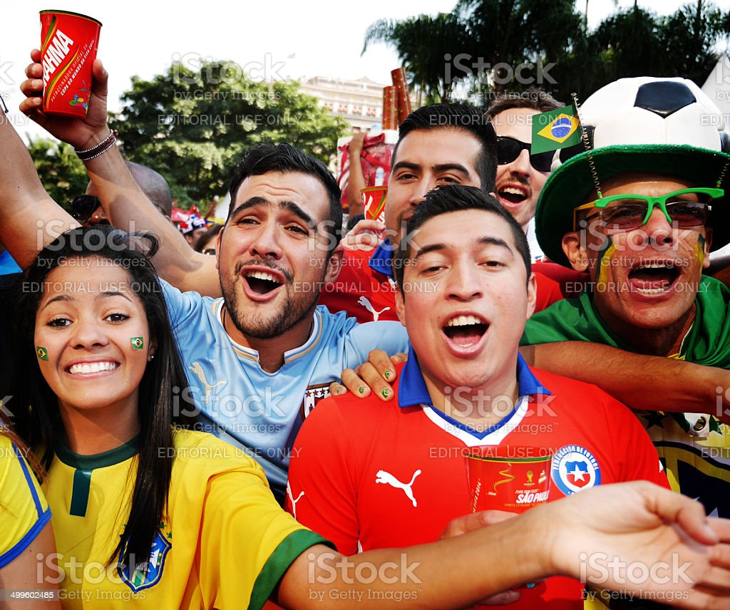 World Cup fans stock photo