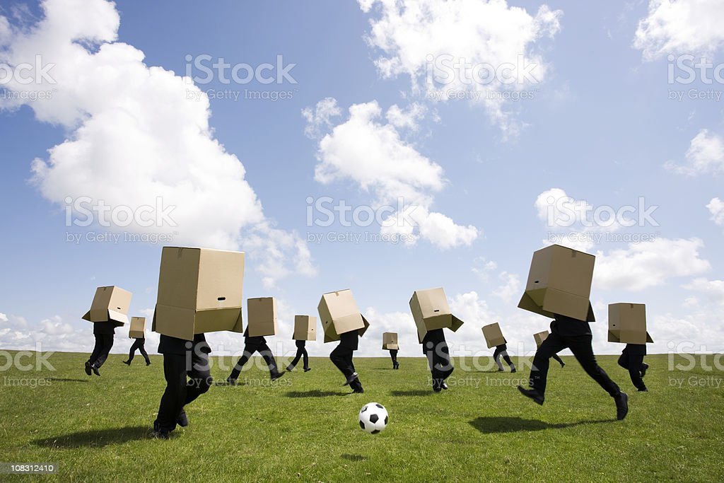 World cup fever stock photo