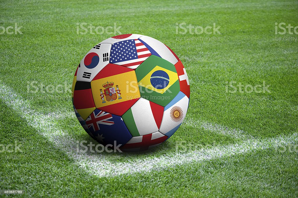 World cup soccer ball royalty-free stock photo