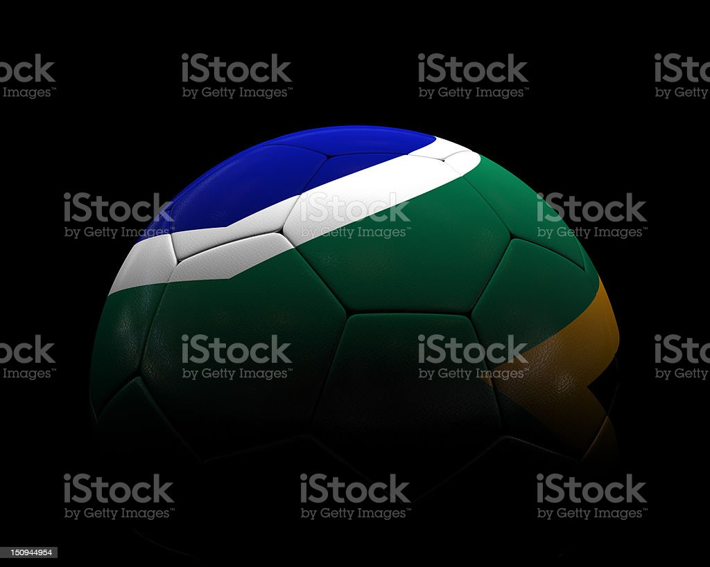 World Cup Soccer Ball with South Africa Colors royalty-free stock photo