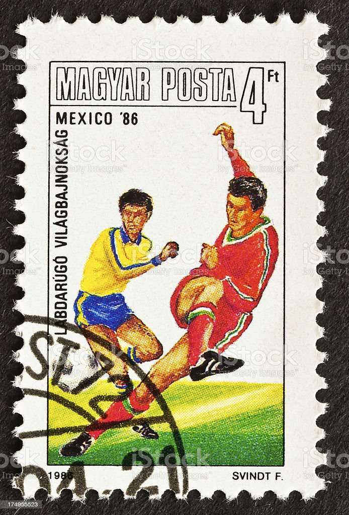 World Cup Soccer Stamp-Mexico royalty-free stock photo