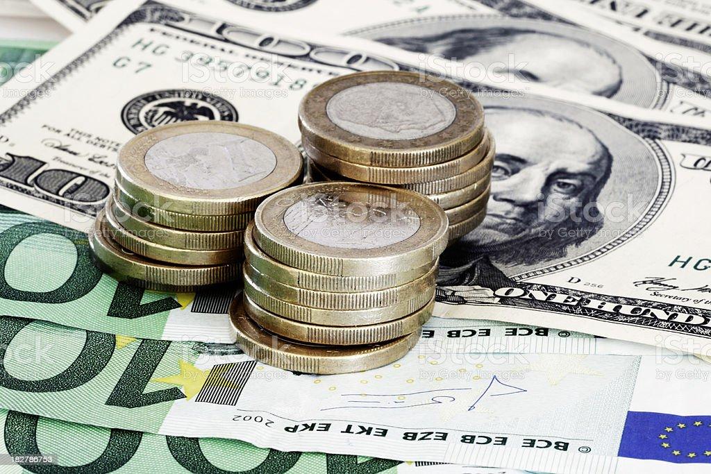 World Currencies stock photo