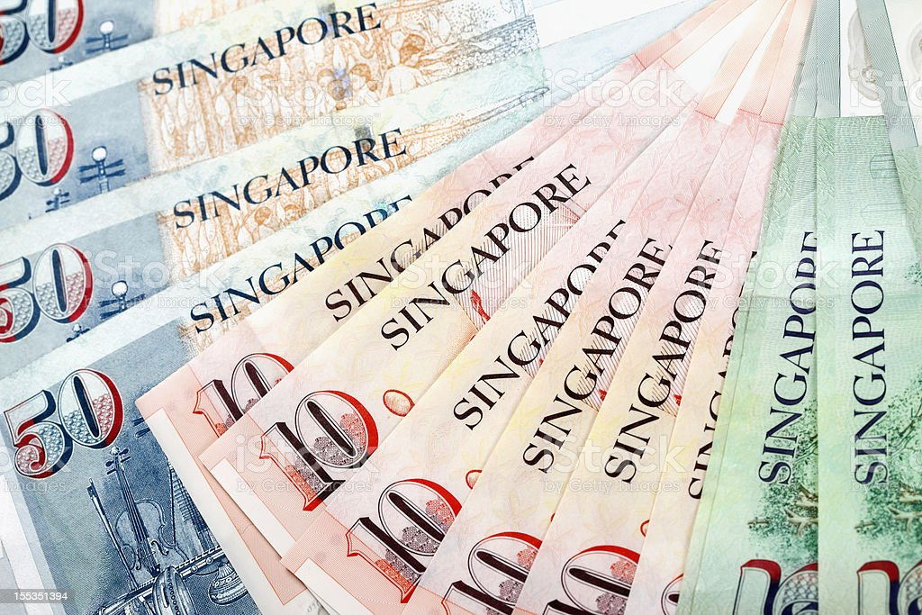 World Currencies. Singapore Dollar royalty-free stock photo