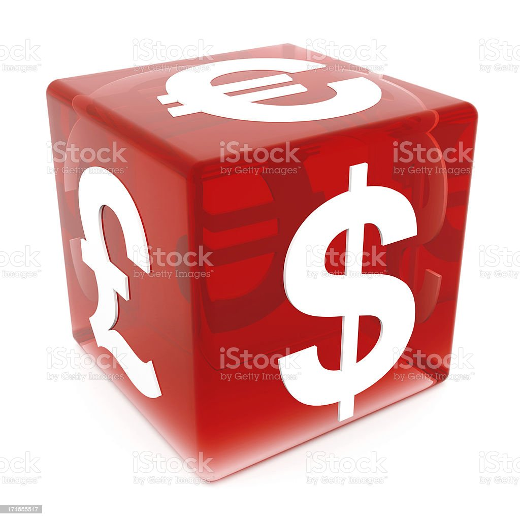 3D World Currency Dice royalty-free stock photo