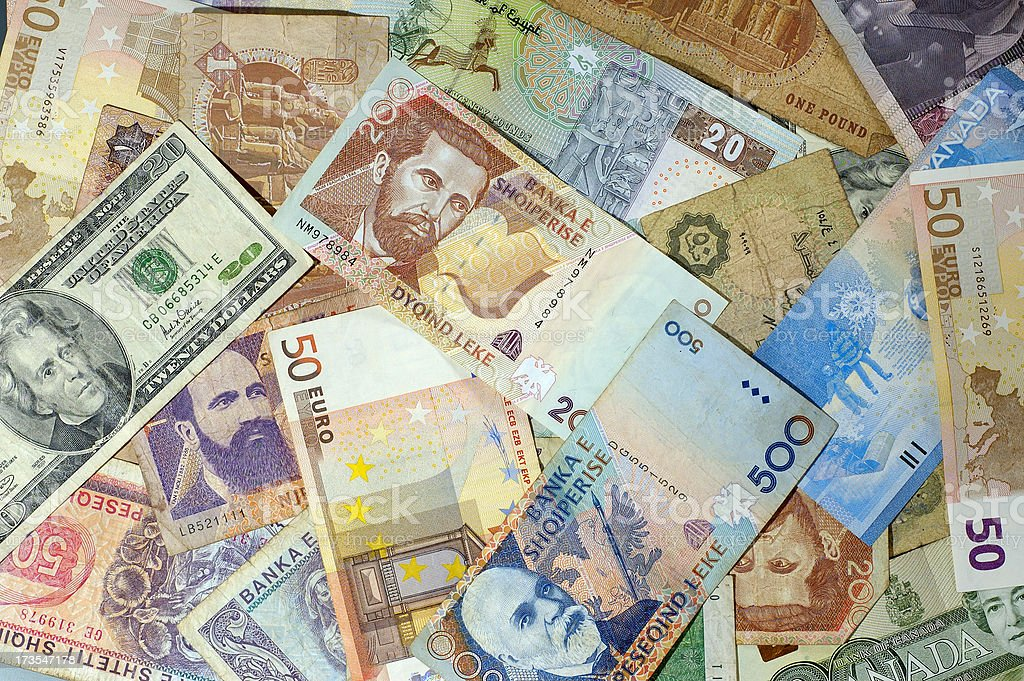 World Currency royalty-free stock photo