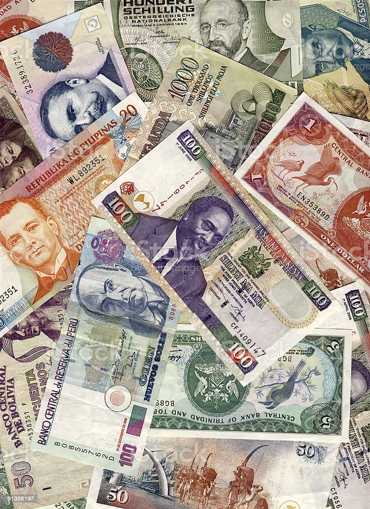 World Currency stock photo