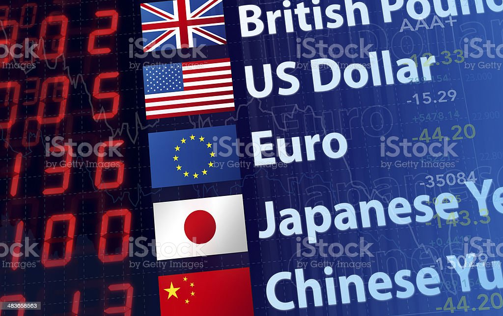 World Currency Rates stock photo