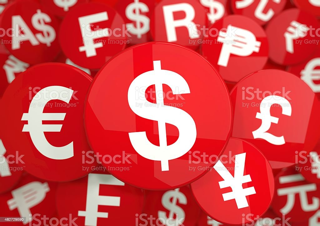 World Currency Symbols stock photo