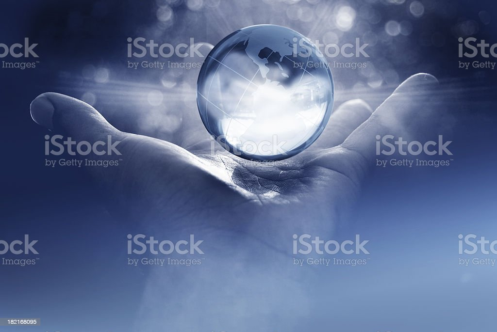 world domination; the future is in your hands stock photo
