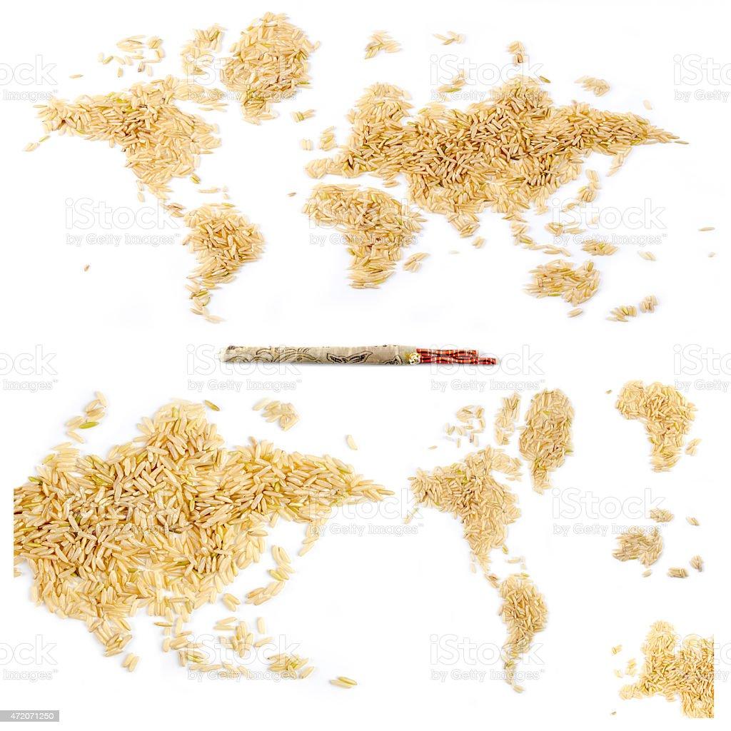 world eats rice stock photo