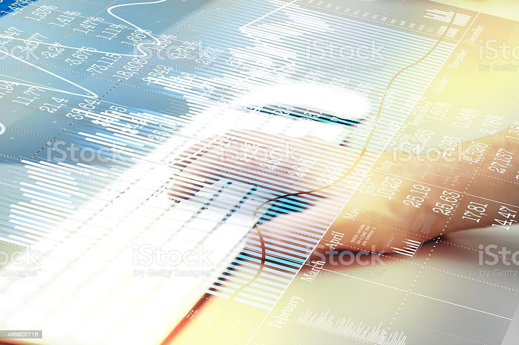 World economics. Finance concept with keyboard computer. stock photo