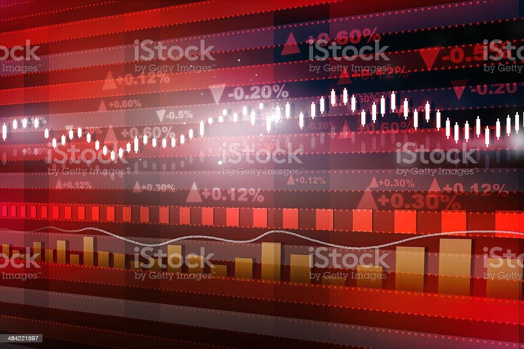 World economics graph stock photo