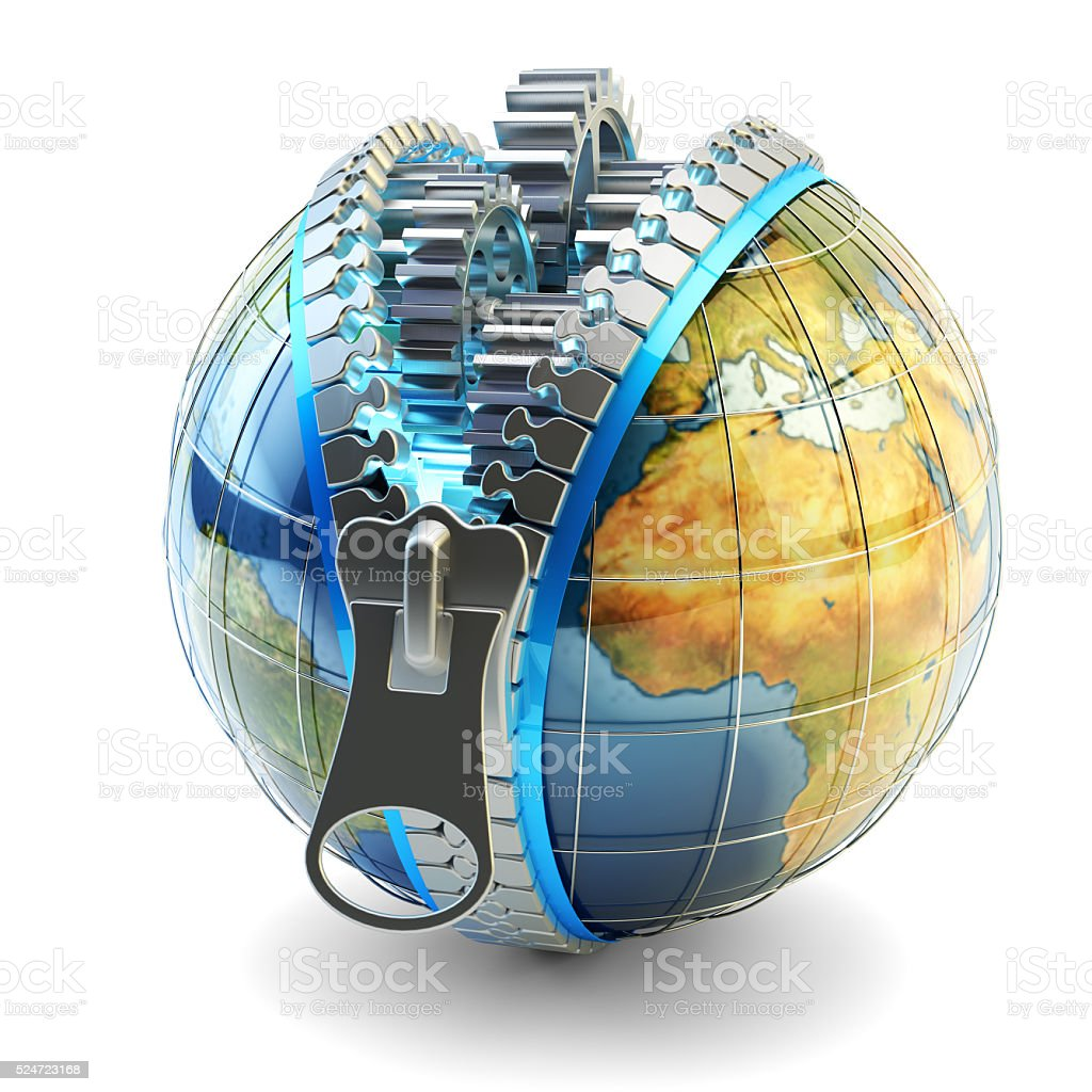 World economy, global business, international corporation and internet technology concept stock photo