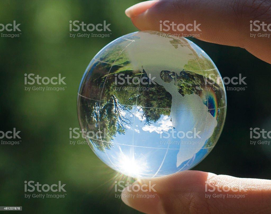 World environment concept stock photo