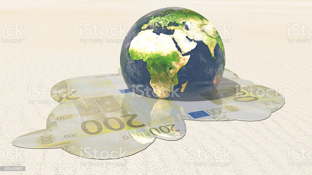 World euro melt stock photo
