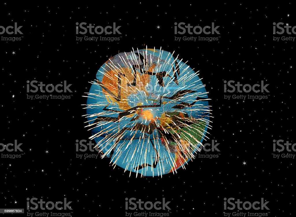 World Exploding stock photo