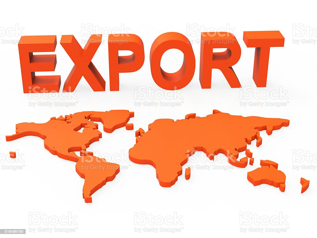 World Export Shows Trading Exporting And Exportation stock photo