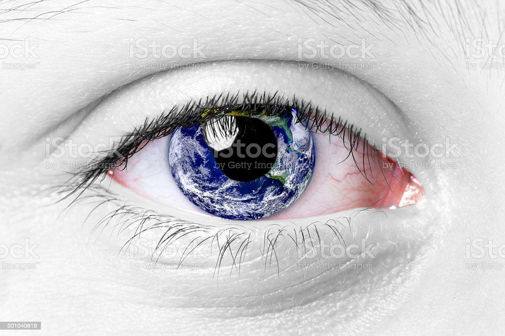 World Eye stock photo