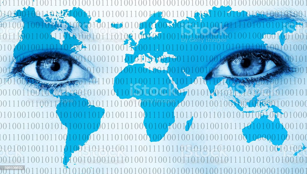 World eyes stock photo