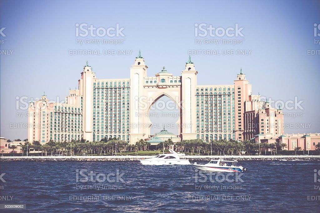 World Famous Atlantis, The Palm Hotel Dubai, United Arab Emirates stock photo