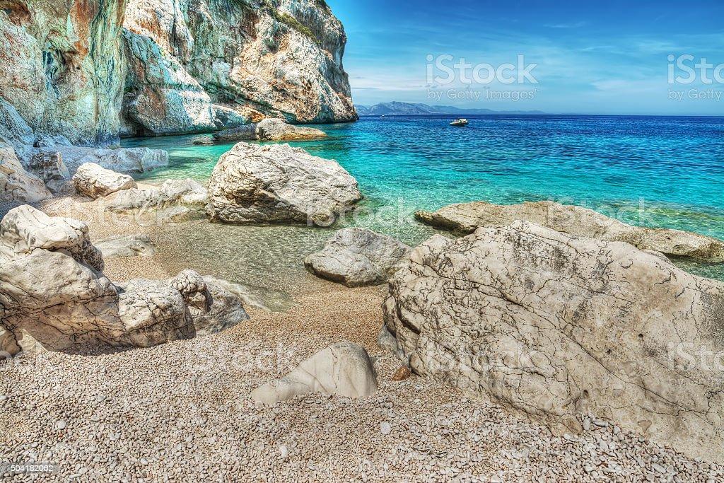 World famous Cala Mariolu in Sardinia stock photo