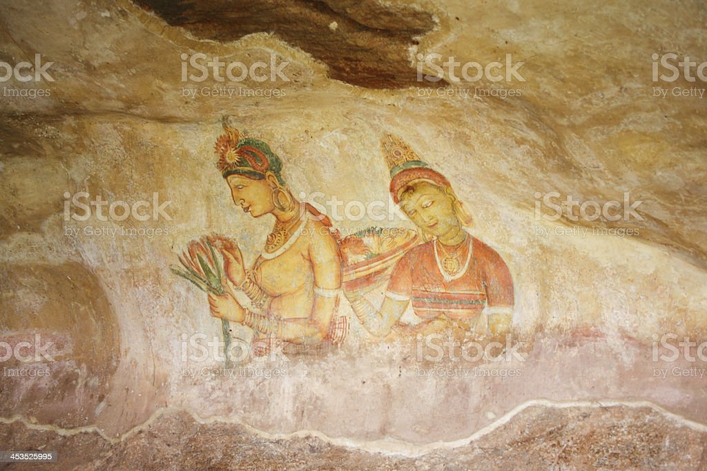 world famous frescos of ladies royalty-free stock photo