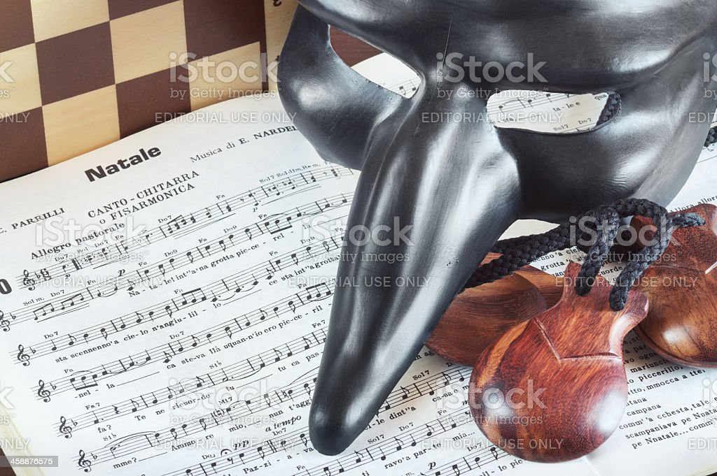 World famous Neapolitan music and tradition - Musica e tradizion royalty-free stock photo
