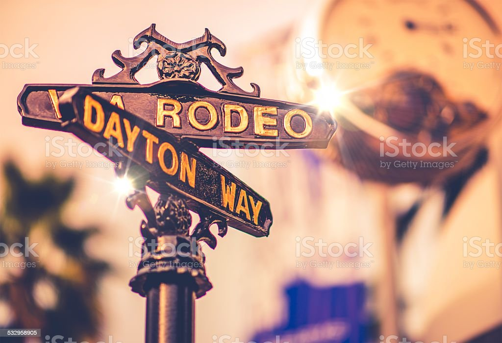 World Famous Rodeo Drive stock photo