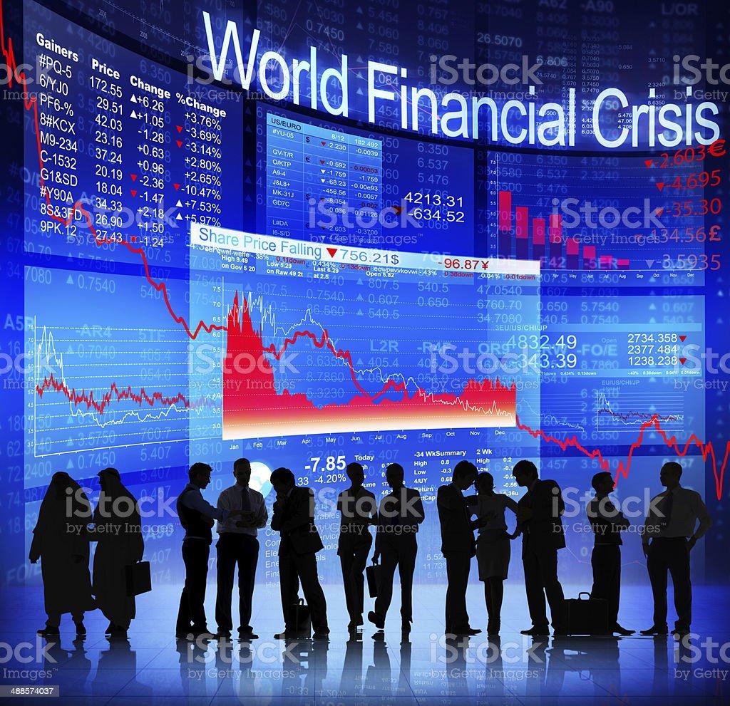 World Finance Crisis stock photo