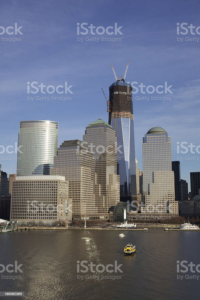 World Financial and Trade Centers in Manhattan royalty-free stock photo