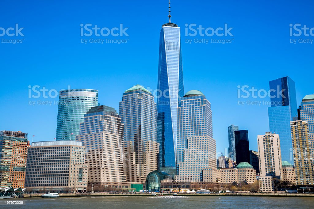 World Financial Center in Financial District of Manhattan, NYC royalty-free stock photo
