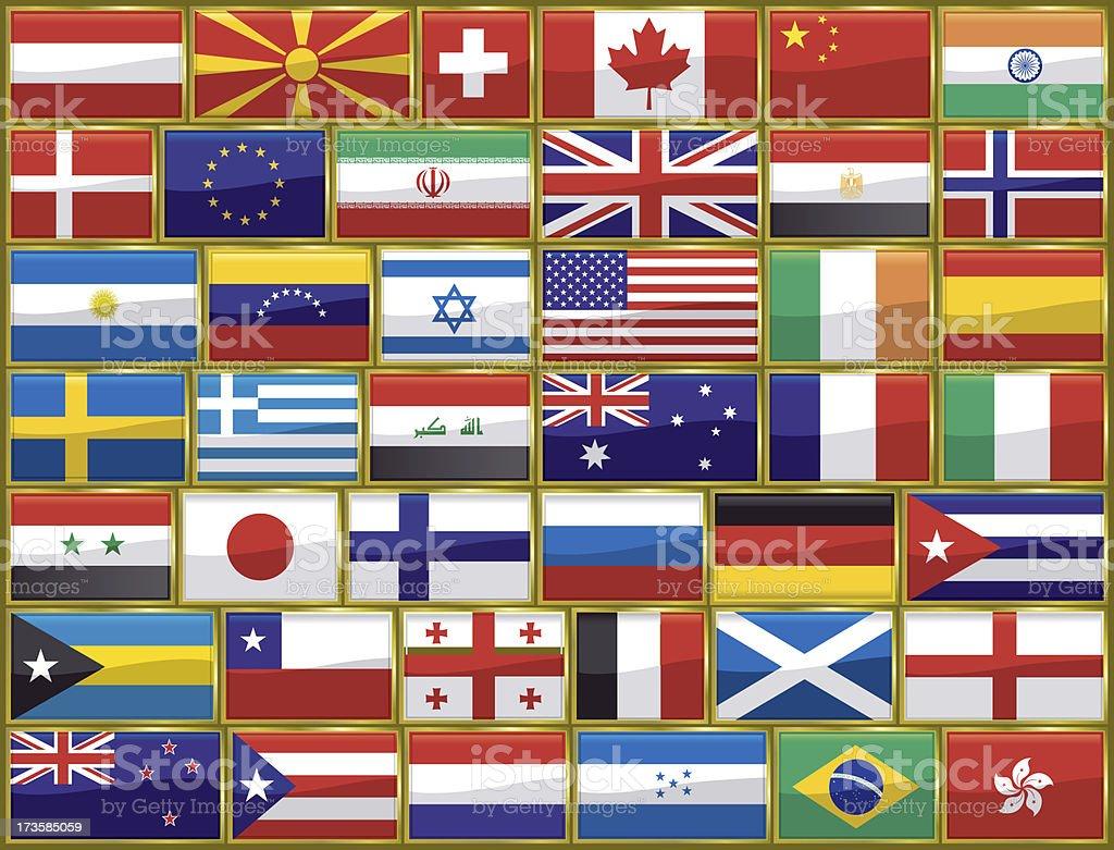 World Flag Background stock photo