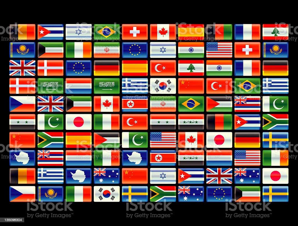 World flag matrix royalty-free stock photo