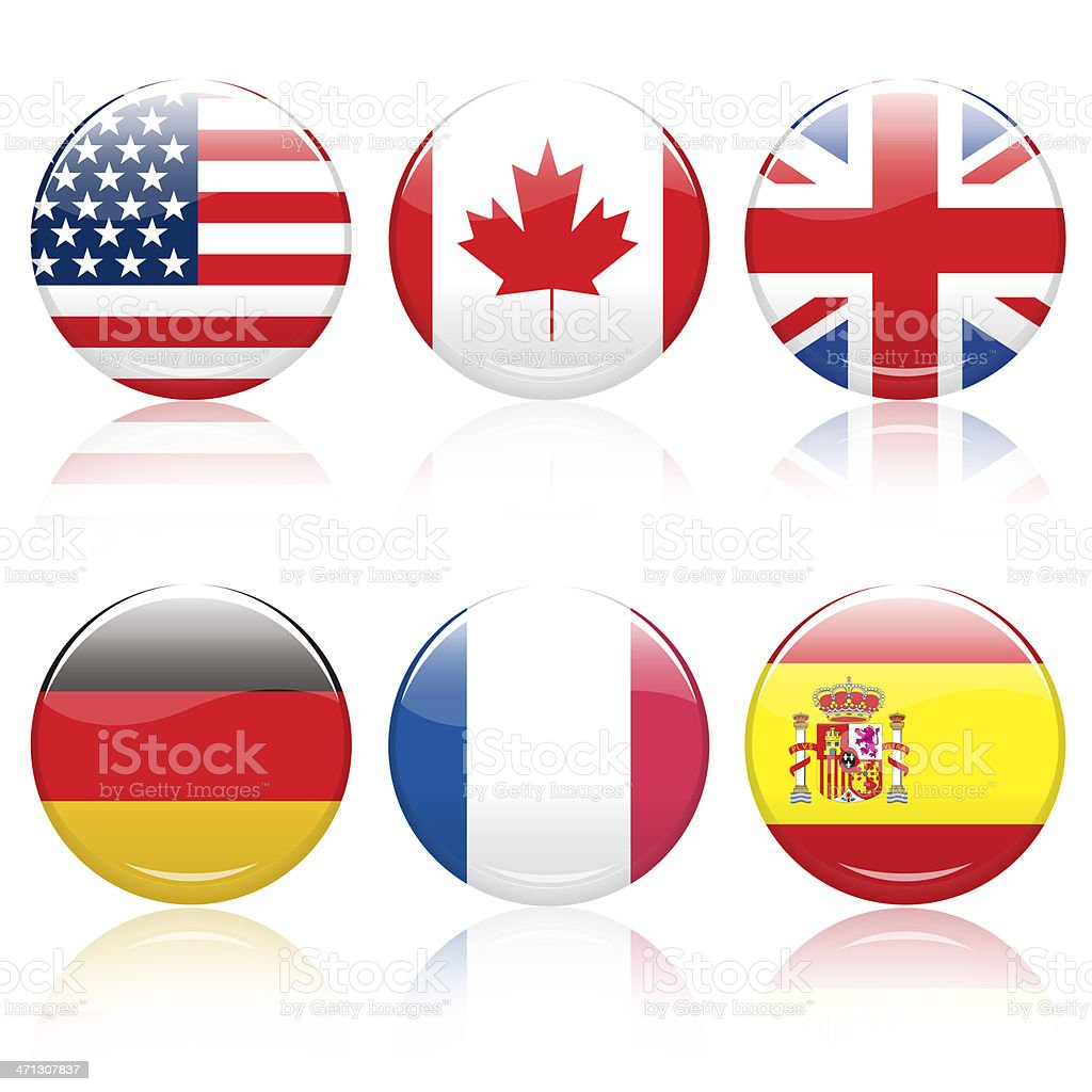 World flag pins stock photo