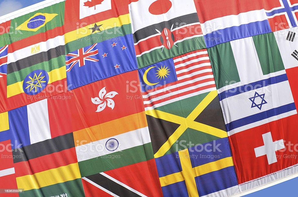 World flags stock photo