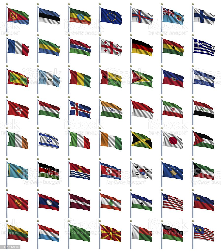 World Flags Set 2 of 4 royalty-free stock photo