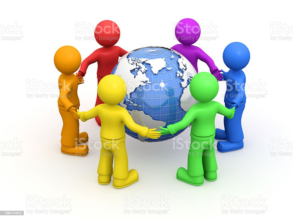 World friendship. royalty-free stock photo