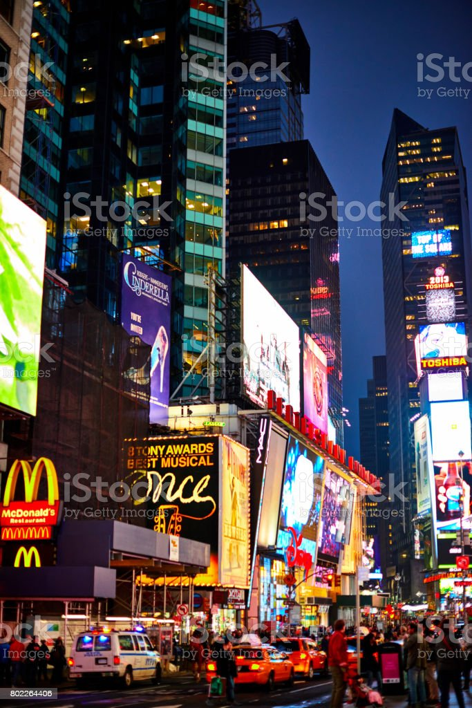World full of commercials - night view of the time square on Manhattan's New York City stock photo
