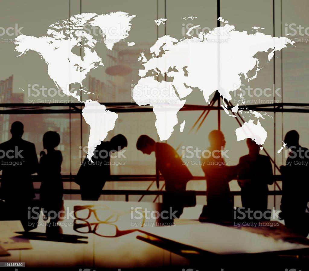 World Global Cartography Globalization Earth International Conce stock photo