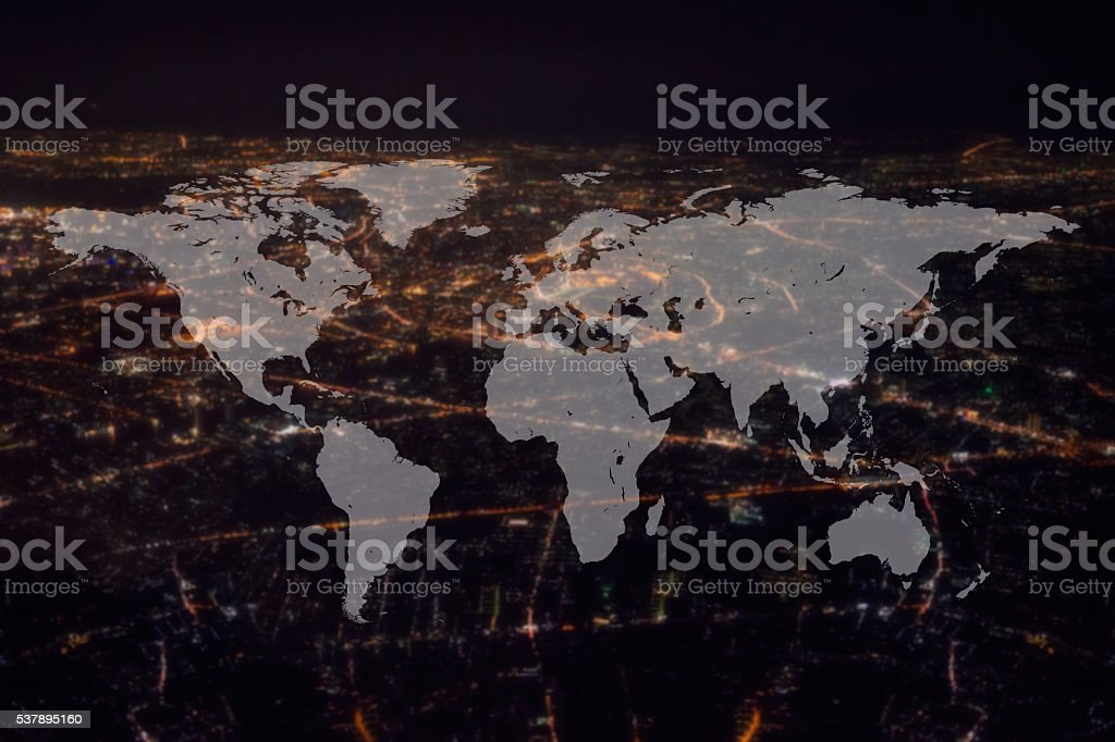 World Global Cartography Globalization stock photo