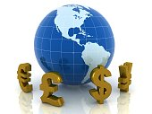 World global currency exchange business concept