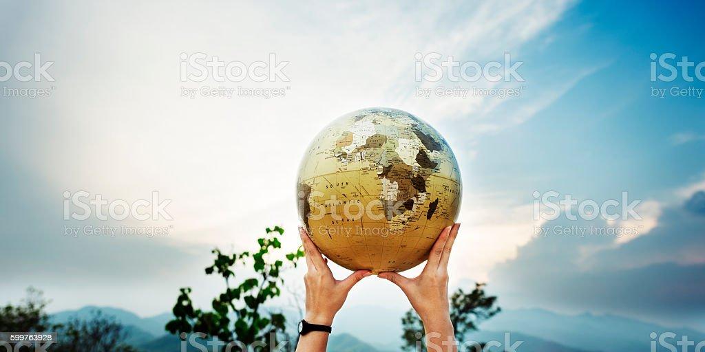 World Global Networking International Society Concept stock photo