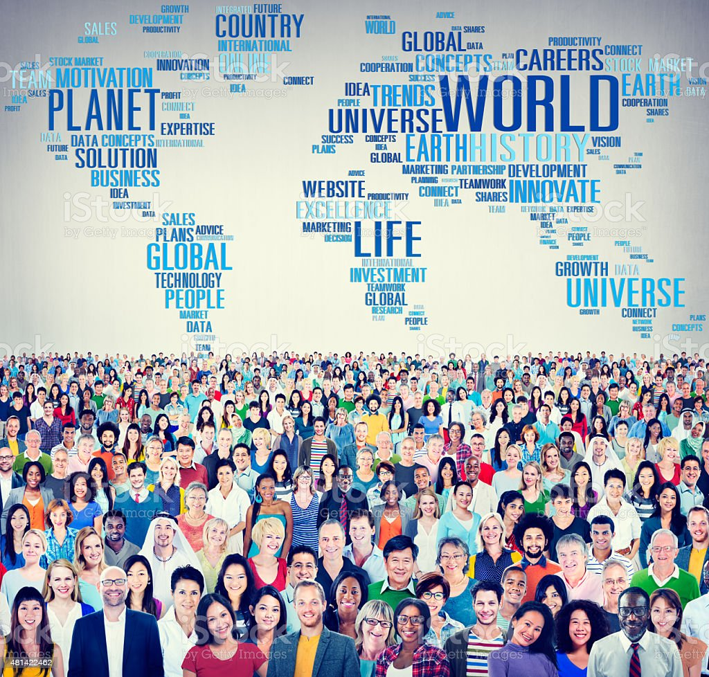 World Globalization International Life Planet Concept stock photo