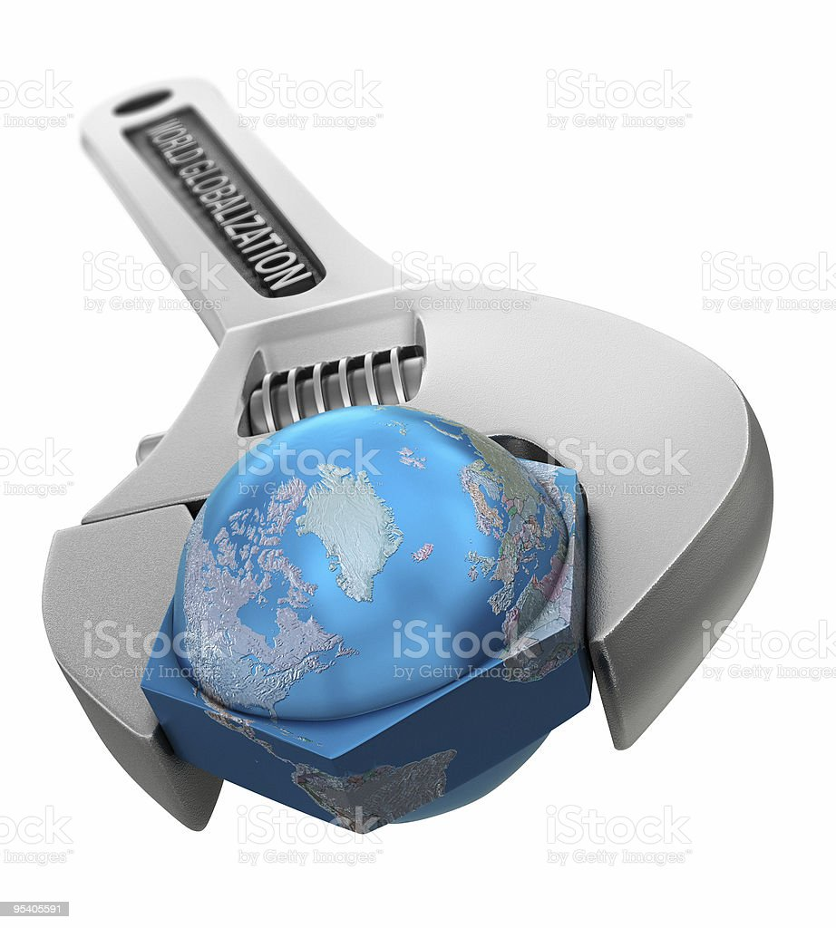 World Globalization wrench royalty-free stock photo
