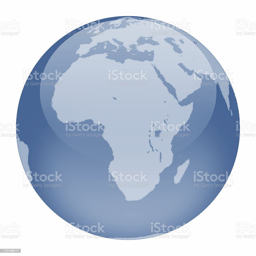 World Globe - Africa Focus stock photo