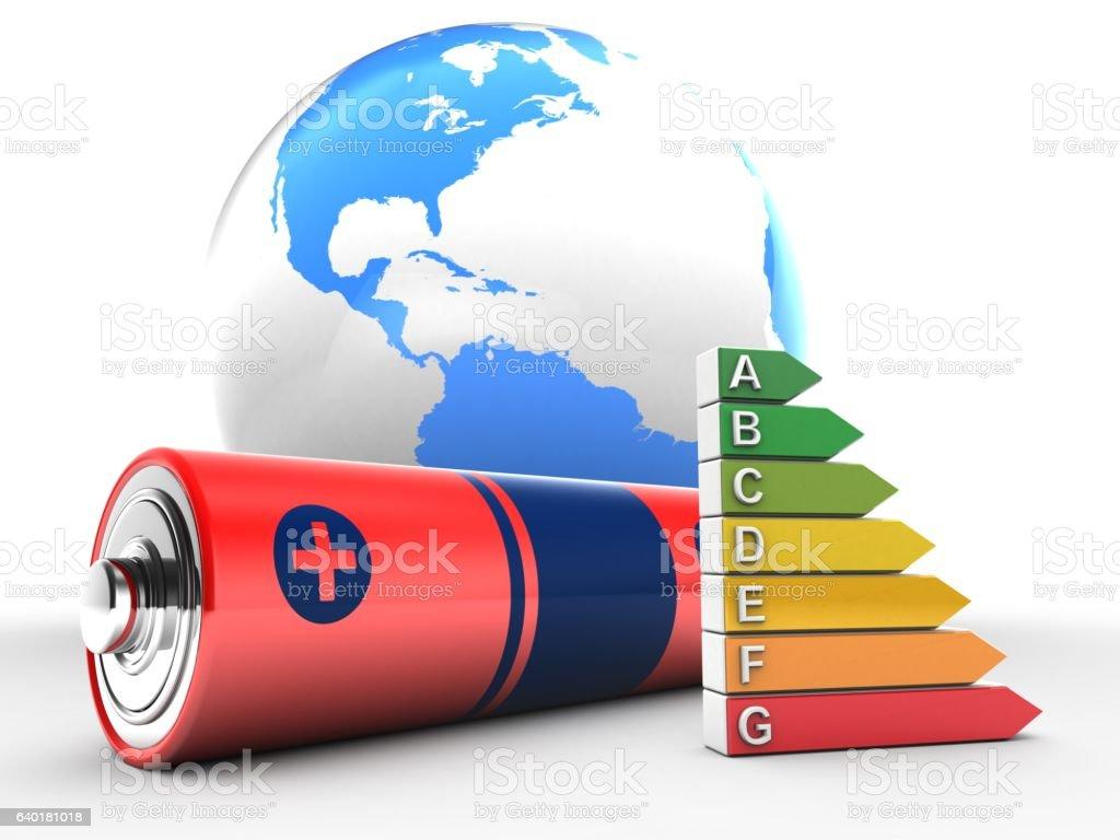 world globe and efficient ranks stock photo