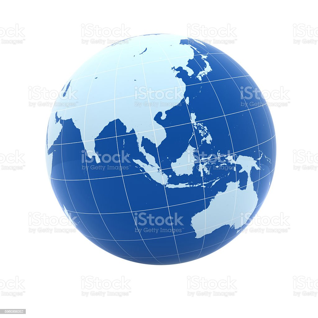 World globe asia australia concept stock photo