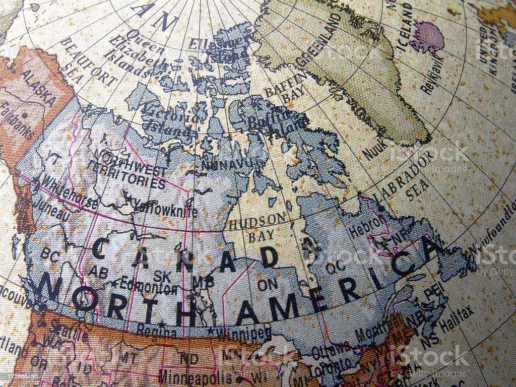 World Globe: Canada royalty-free stock photo