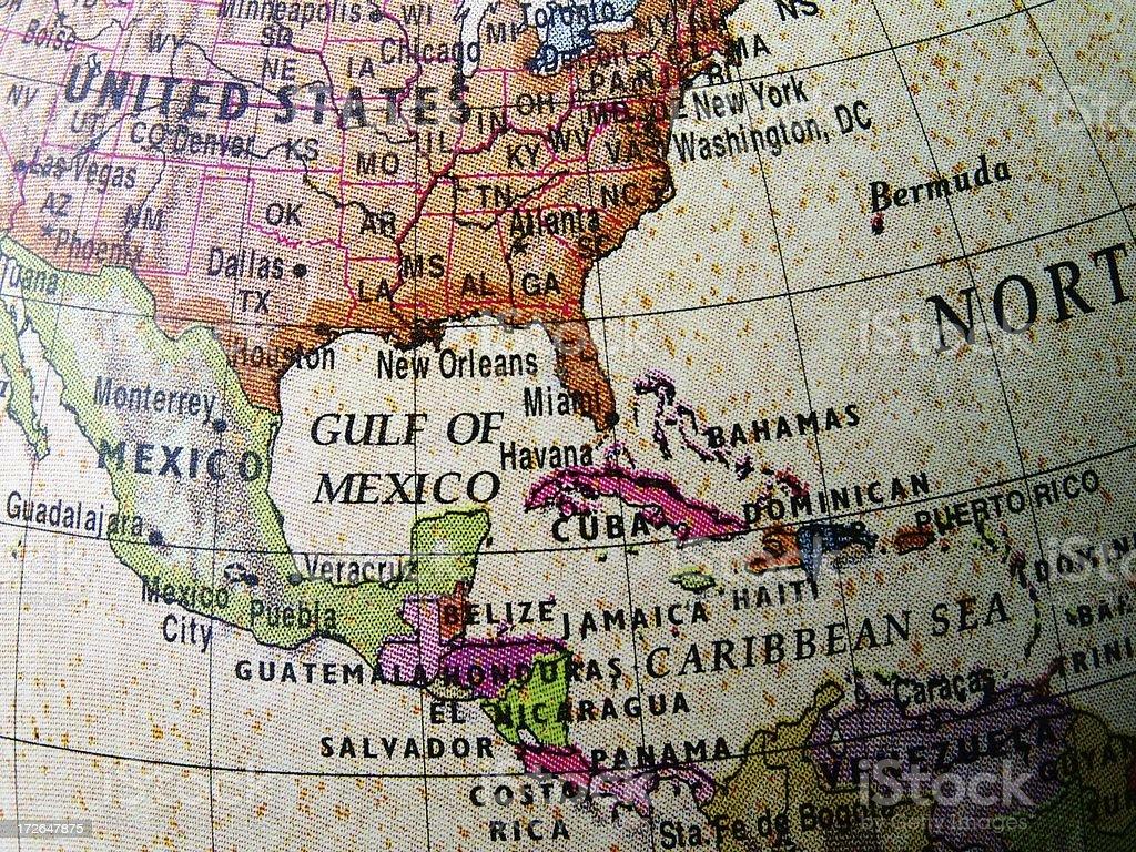 World Globe: Central America stock photo