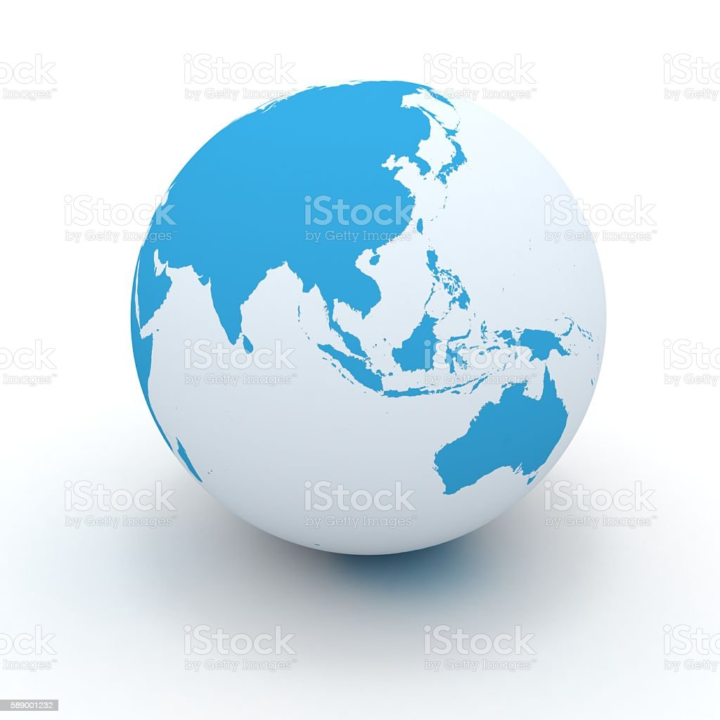 World globe east asia australia concept stock photo